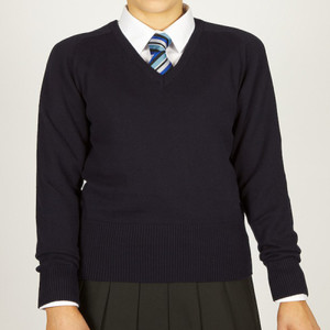 GFCVcw - Girls Fit Cotton V-Neck Jumper