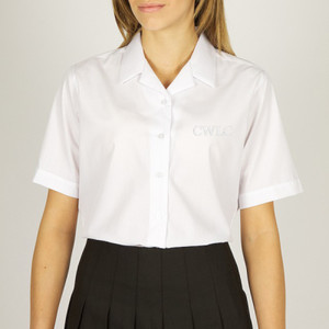 HRPcw - SHORT SLEEVE REVER COLLAR BLOUSES - TWIN PACKAGING - SENIORS